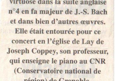 Mathilde en concert