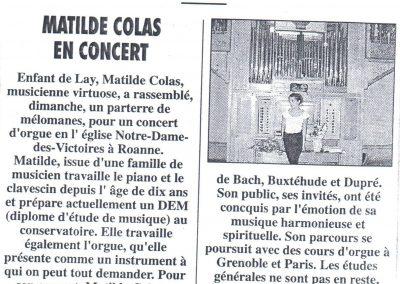 2003 05 18 - PRESSE Concert d Orgue NDV Roanne