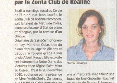 2011 05 21 - Le Progres Zonta Club Aix