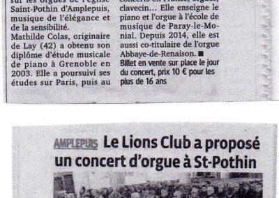 2015 03 17 - Le Progres Concert Amplepuis