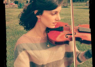 Et passionnée de violon !
